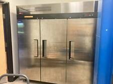"Turbo Air 76"" Three Section Reach In Freezer, Bakery, Restaurant."