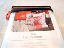 STUDIO 3B CHELY EURO PILLOW SHAM FAST SHIP SALE %100 COTTON RETAIL $40 RASBERRY