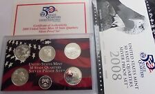 2008s 5 State Quarter SILVER Proof Set ,OK,NM,AZ,AK.HA. New Low Price