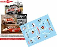 DECALS 1/24 REF 701 PORSCHE 911 BELGA DUEZ RALLYE 24 HEURES YPRES 1981 RALLY