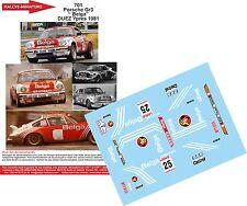"DÉCALS 1/18 réf 701 Porsche Gr3 "" Belga"" DUEZ Ypres 1981"