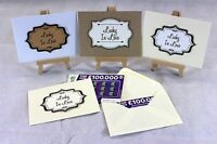 10 Scratch Card Envelope Wallet Holder Wedding Favour Gift