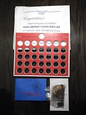 Franklin Mint 1968 Vintage 36 U.S. Presidential Solid Bronze Coins Set Sealed