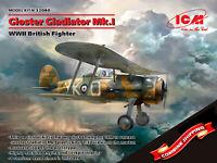 ICM 32040 Gloster Gladiator Mk.I, WWII British Fighter, plastic model kit 1/32