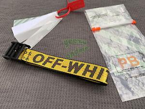Yellow Off White Belt Tie Down Nylon IRON Head Industrial Belt 200cm