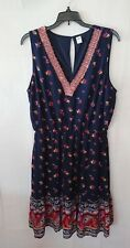 Women's Flowing Floral Navy Blue Old Navy Dress Size Large