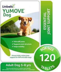 Lintbells YOUMOVE Dog 120 tablets Health Supplement Aid Dogs For Hip & Joint