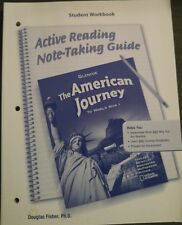 US History GLENCOE AMERICAN JOURNEY Active Reading Note-Taking Guide 8th grade 8