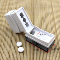 PILL CAPLETS MEDICINE DOSE TABLET SPLITTER CUTTER 1/2 1/4 DIVIDE STORAGE BOX
