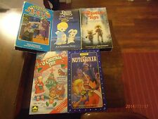 The forgotten Toys / The Nutcracker /Jesus the Nativity / Timmy's Gift 5 Vhs