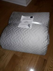 Boll & Branch King/Cal King Heritage Quilt Set 100% Organic Cotton in Grey