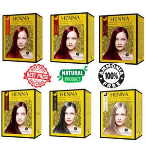 Henna Hair Dye Pure Natural Standelli Professional Amonia Free 6 pcs in Box
