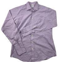 Brooks Brothers Non-Iron Lavender Purple Dress Shirt Men's 16.5 37 French Cuff