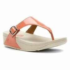 FitFlop Women's The Skinny Thong Sandal,Peach Patent,US 10 M