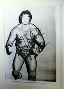 DON The MAGNIFICENT MURACO Autographed Copy PAGE 80's WWF Wrestler HOF PC1817
