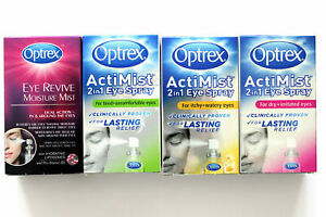 Optrex ActiMist Eye Spray - 10ml - 100 Doses - Please Choose Type: