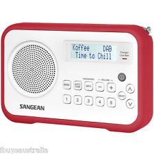 Sangean DAB+ / FM-RDS Portable Digital Radio in White/Red - DPR67WR