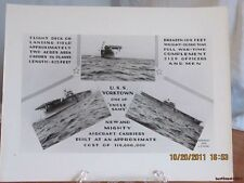 Reprint 8x10 Real Picture Photograph of Uss Yorktown Aircraft Carrier-(c)1938