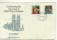 A LOVELY FDC FROM ZAMBIA 1986 ROYAL WEDDING