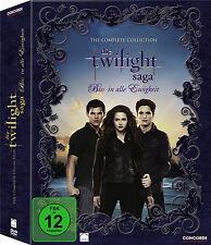 TWILIGHT 1 2 3 4 Complete Collection BISS IN ALLE EWIGKEIT 11 DVD BOX Neu