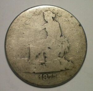 1877 TRADE DOLLAR IN POOR CONDITION
