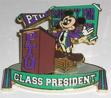 PTU  Mickey Mouse for CLASS PRESIDENT Event Disney Pin LE 1000 NEW on Card