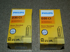 (2) NEW PHILIPS STANDARD D3SC1 XENON STANDARD HEADLIGHT BULB 42V 35W PK32D-5