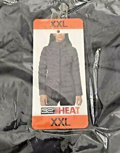 32 DEGREES Heat Women's 4-Way Stretch Hooded Puffer Jacket XXL Periscope NWT