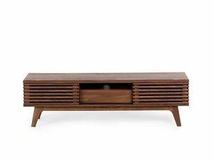 Lowboard dunkler Holzfarbton DETROIT