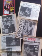 Rolling Stones Steel Wheels Tour Lot archive Opening Of Tour.Rare Magazine Lot