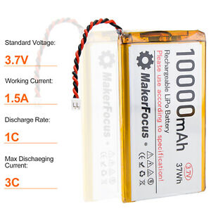 1s 3.7V Lipo Battery 10000mAh Lithium Rechargeable Battery with Micro PH2.0 Plug