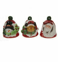 3 X  LIGHT UP BELLS WITH CHARACTER FACE ornament christmas gift present