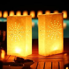 Tealight Candle Bags Paper Lantern Garden Party Luminary Light Wedding BBQ X 10