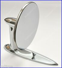 Lincoln Universal Chrome Round Door Mount Mirror Rearview with Gasket & Screws