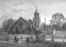 LONDON. Petersham Church 1888 old antique vintage print picture