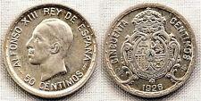 Alfonso XIII. 50 centimos 1926. Madrid. EBC+/XF+. Plata 2,5 g. Brillo original