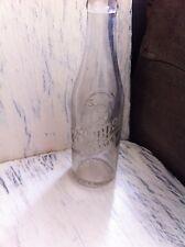 """Rare Vintage """"DR. PEPPER"""" Clear Glass Bottle~ Debossed Lettering 6 1/2 oz"""