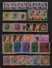BURUNDI #34-67 Mint Hinged 8 EARLY SETS 1963 SCV $20.25 UNESCO UN SPACE more