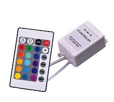 RGB LED controller with IR remote control 12Vdc 3x2A 72W for 5050 SMD RGB Strip