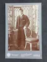 Victorian Cabinet Card Photo: Gentleman: Kyle & Cameron: Glasgow / Wishaw