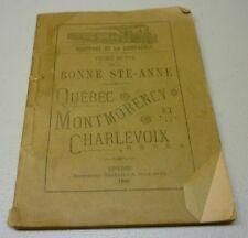 Antique 1895 Chemin De Fer De La Bonne Ste-Anne Soft Cover Book Brochure