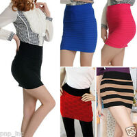 Slim Fit Seamless Stretch Tight Fitted Women Lady Mini Skirt/Top Sequin Striped