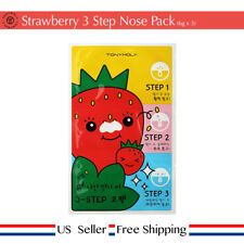 Tony moly Runaway Strawberry Seeds 3 Step Nose Pack  3, 5 sheets [ US Seller ]
