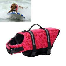 Reflective Dog Life Jacket Vest Saver Swim Preserver Safety Clothes Red M