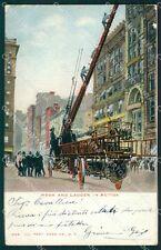 Vigili del Fuoco Firefighter New York PIEGHE cartolina QT5311