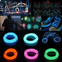 Neon LED Light Glow EL Wire String Strip Rope Tube Car Xmas without Battery Box/