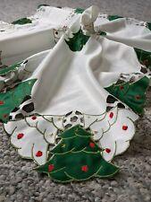 Christmas EMBROIDERED  TABLECLOTH  Christmas Tree Germany