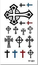 Crosses Celtic Cross Temporary Fake Tattoo Body Art