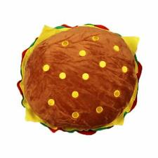 "15"" Lovely Plush Stuffed Huge Hamburger Pillow Fluffy Soft Burger Food Plush Toy"