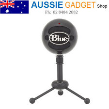 Blue Snowball USB Microphone MAC Computer Mic Gloss BLACK Podcast Skype GAMING